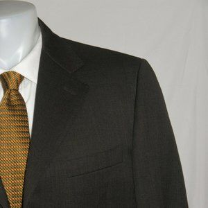 Canali 13320 Brown Three Button Suit 40R
